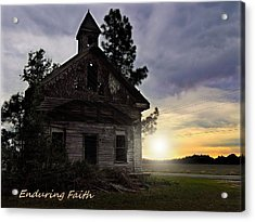 Acrylic Print featuring the photograph Enduring Faith by Laura Ragland