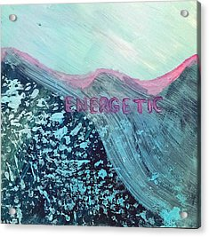 Energetic Acrylic Print by Lou Belcher