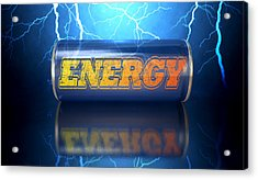 Energy Drink Can Acrylic Print by Allan Swart