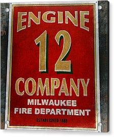Engine 12 Acrylic Print