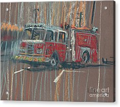 Acrylic Print featuring the painting Engine 56 by Donald Maier