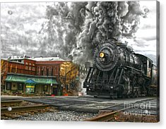 Engine 734 On The Western Maryland Scenic Railroad  Acrylic Print by Jeannette Hunt