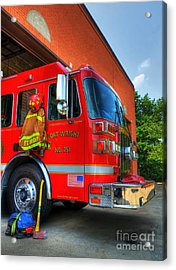 Engine 751 Acrylic Print by Mel Steinhauer