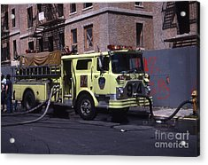 Engine 94 Fdny Lime Acrylic Print