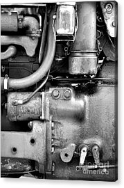 Engine Black And White Acrylic Print