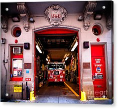Engine Company 65 Firehouse Midtown Manhattan Acrylic Print by Amy Cicconi