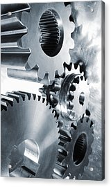 Engineering And Technology Gears Acrylic Print by Christian Lagereek