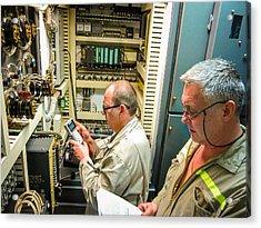 Engineering Control Room Acrylic Print