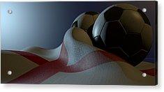 England Flag And Soccer Ball Acrylic Print