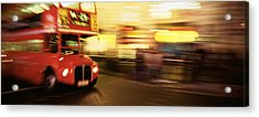 England, London, Bus On The Street Acrylic Print by Panoramic Images