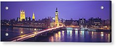 England, London, Parliament, Big Ben Acrylic Print by Panoramic Images
