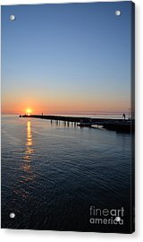 English Channel Sunset Acrylic Print