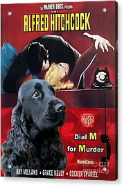 English Cocker Spaniel Art - Dial M For Murder Acrylic Print by Sandra Sij