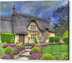 English Country Cottage Acrylic Print by Juli Scalzi