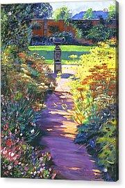 English Garden Urn Acrylic Print by David Lloyd Glover