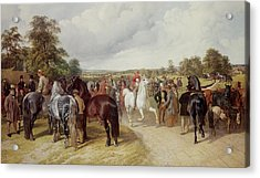 English Horse Fair On Southborough Common Acrylic Print by John Frederick Herring Snr