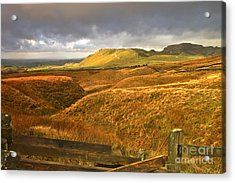 English Moorland Landscape Acrylic Print