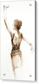 English National Ballet Student Acrylic Print by Jackie Simmonds
