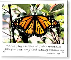 English New Creature In Christ Acrylic Print