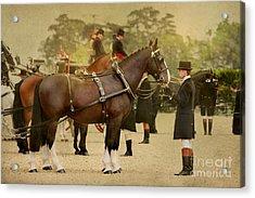 English Postcard Acrylic Print by Dorota Kudyba