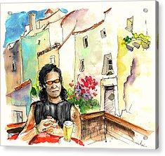 English Rocker In Castelo De Vide In Portugal Acrylic Print by Miki De Goodaboom