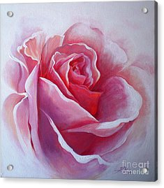 Acrylic Print featuring the painting English Rose by Sandra Phryce-Jones