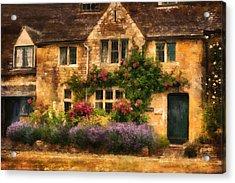 English Stone Cottage Acrylic Print