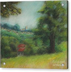 English Summer Landscape  Acrylic Print by Ewa Hearfield