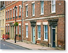 English Town Houses Acrylic Print by Tom Gowanlock
