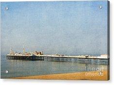 English Victorian Seaside Pier - Textured Acrylic Print