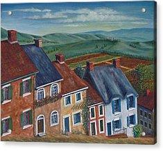 English Village Street Acrylic Print