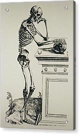 Engraving Of The Structure Of The Human Body Acrylic Print