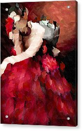 Enigma Of A Geisha - Abstract Realism Acrylic Print