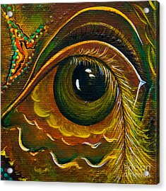 Enigma Spirit Eye Acrylic Print by Deborha Kerr