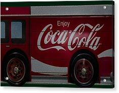 Enjoy Coca Cola Acrylic Print by Susan Candelario