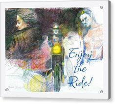 Acrylic Print featuring the drawing Enjoy The Ride by Brooks Garten Hauschild