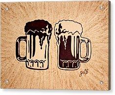 Enjoying Beer Acrylic Print