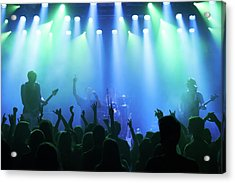 Enjoying Every Song The Band Plays Acrylic Print by Yuri arcurs