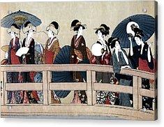 Enjoying The Cool At The Ryogoku Bridge II Acrylic Print