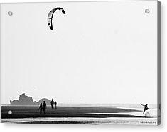 Enjoying The Day Acrylic Print by Martina  Rathgens