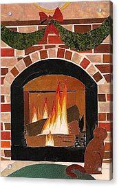 Enjoying The Warmth Acrylic Print by Robin Birrell