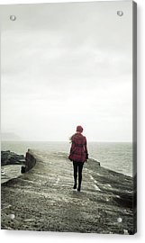 Enjoying Winter Acrylic Print