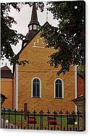 enkoepingsnaes church from east Db Acrylic Print by Leif Sohlman