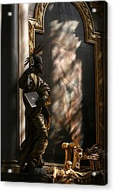 Acrylic Print featuring the sculpture Enlightend by Steve Godleski