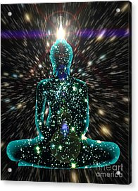 Enlightenment Space-time Consciousness Acrylic Print by Gregory Smith