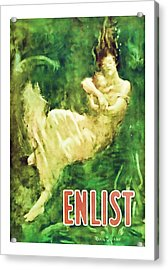 Enlist World War 1 Enlistment Art Acrylic Print