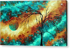 Enormous Abstract Art Brilliant Colors Original Contemporary Painting Reaching For The Moon Madart Acrylic Print by Megan Duncanson