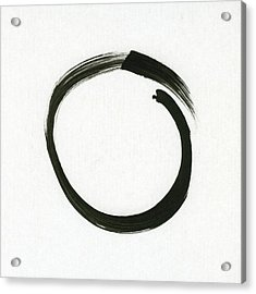 Enso #1 - Zen Circle Minimalistic Black And White Acrylic Print