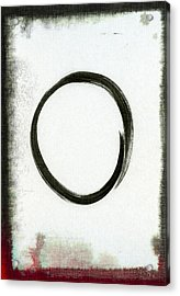 Enso #2 - Zen Circle Abstract Black And Red Acrylic Print