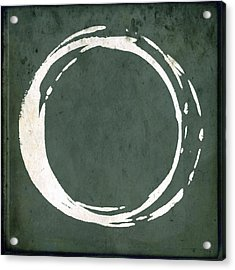 Enso No. 107 Green Acrylic Print by Julie Niemela